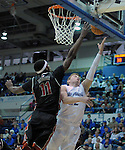 February 14, 2015 - Colorado Springs, Colorado, U.S. -  Air Force guard, Max Yon #22, drives for a layup as he continues to return to form during an NCAA basketball game between the UNLV Runnin' Rebels and the Air Force Academy Falcons at Clune Arena, U.S. Air Force Academy, Colorado Springs, Colorado.  Air Force defeats UNLV 76-75.