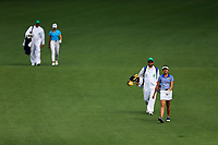 Sierra Brooks (USA) and Pimnipa Panthong (THA) on the 2nd during the final round at the Augusta National Womans Amateur 2019, Augusta National, Augusta, Georgia, USA. 06/04/2019.<br /> Picture Fran Caffrey / Golffile.ie<br /> <br /> All photo usage must carry mandatory copyright credit (&copy; Golffile | Fran Caffrey)