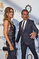 www.acepixs.com<br /> <br /> May 23 2017. Cannes<br /> <br /> Antonio Banderas (R) and Nicole Kimpel arriving at the DeGrisogono 'Love On The Rocks' party during the 70th annual Cannes Film Festival at Hotel du Cap-Eden-Roc on May 23, 2017 in Cap d'Antibes, France<br /> <br /> By Line: Famous/ACE Pictures<br /> <br /> <br /> ACE Pictures Inc<br /> Tel: 6467670430<br /> Email: info@acepixs.com<br /> www.acepixs.com