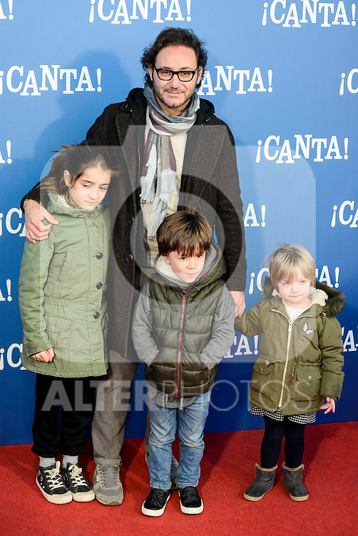 "Carlos Santos attends to the premiere of the film ""¡Canta!"" at Cines Capitol in Madrid, Spain. December 18, 2016. (ALTERPHOTOS/BorjaB.Hojas)"