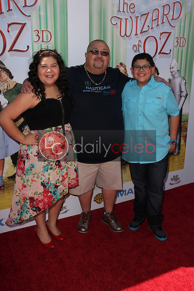 Raini Rodriguez, Rico Rodriguez and father<br />