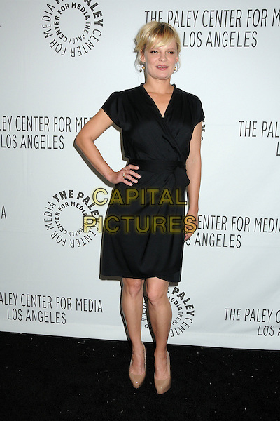 "MARTHA PLIMPTON.28th Annual Paley Center for Media's Paley Fest 2011 Presents ""Raising Hope"" held at The Saban Theatre, Beverly Hills, California, USA..March 17th, 2011.full length black dress wrap hand on hip beige shoes .CAP/ADM/BP.©Byron Purvis/AdMedia/Capital Pictures."