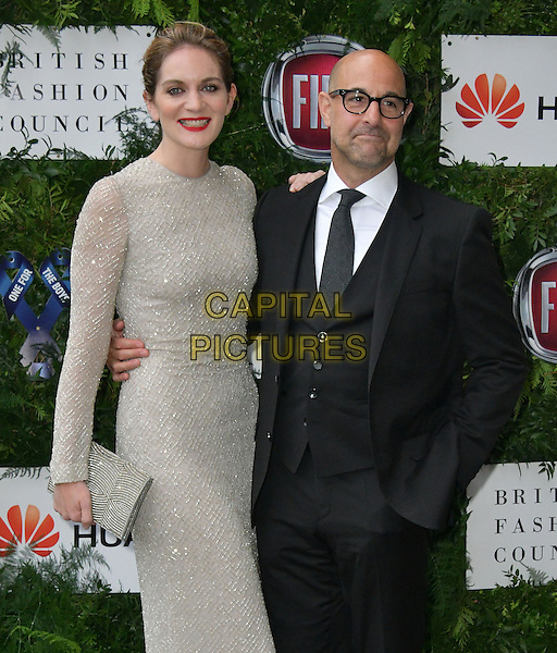Felicity Blunt, Stanley Tucci at Charity ball in aid of One For The Boys, a charity raising awareness of male forms of cancer, encouraging men to get checked regularly. Evening celebrates the launch of the 2016 campaign film The Difference, at Victoria and Albert Museum, London, England June 12, 2016.<br /> CAP/JOR<br /> &copy;JOR/Capital Pictures