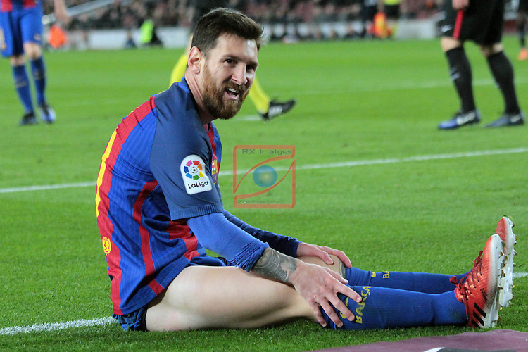 Copa del Rey 2016/2017 - 1/8 final vuelta.<br /> FC Barcelona vs Athletic Club: 3-1.<br /> Lionel Messi.