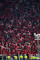 Leverkusen fans cheer on prior to the match <br /> Torino 01/10/2019 Juventus Stadium <br /> Football Champions League 2019//2020 <br /> Group Stage Group D <br /> Juventus - Leverkusen <br /> Photo Andrea Staccioli / Insidefoto
