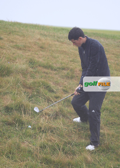 Ryan McKinstry (Cairndhu) on the 6th during the South of Ireland Amateur Open Championship Semi-Finals at Lahinch Golf Club  31th July 2013 <br /> Picture:  Thos Caffrey / www.golffile.ie