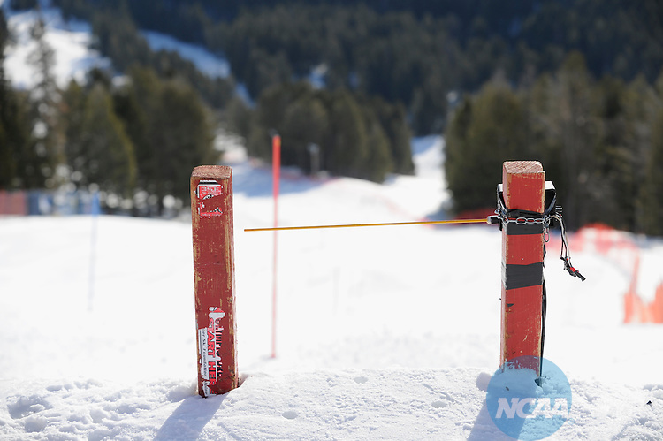 10 MAR 2012:  Racers compete during Women's Alpine Slalom event at the NCAA Division I Men and Women's Ski Championship held at Bridger Bowl hosted by Montana State University in Bozeman, MT. Brett Wilhelm/NCAA Photos.
