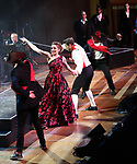 "Tony Yazbeck and Laura Osnes with cast performing during the MCP Production of ""The Scarlet Pimpernel"" Concert at the David Geffen Hall on February 18, 2019 in New York City."