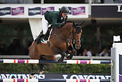 28th September 2017, Real Club de Polo de Barcelona, Barcelona, Spain; Longines FEI Nations Cup, Jumping Final; Shane SWEETNAM (IRL) riding Chaqui Z during the first round of the Nations Cup