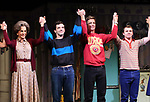 "Mercedes Ruehl, Michael Urie, Ward Horton, Jack DiFalco during the Broadway Opening Night Curtain Call for ""Torch Song"" at the Hayes Theater on November 1, 2018 in New York City."