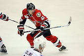 February 22nd 2008:  Alexander Nikulin (41) of the Binghamton Senators skates up ice during a game vs. the Rochester Amerks at Blue Cross Arena at the War Memorial in Rochester, NY.  The Senators defeated the Amerks 4-0.   Photo copyright Mike Janes Photography