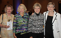 NWA Democrat-Gazette/CARIN SCHOPPMEYER Ann Myers (from left), Janet Hendren, Sherry Harris and Sarah Redfield attend the Corporate Luncheon.