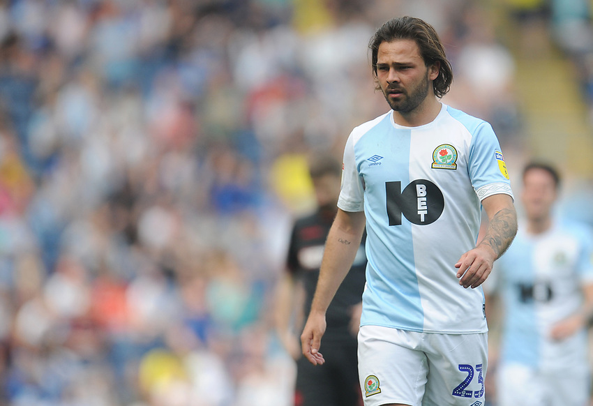 Blackburn Rovers' Bradley Dack<br /> <br /> Photographer Kevin Barnes/CameraSport<br /> <br /> The EFL Sky Bet Championship - Blackburn Rovers v Bolton Wanderers - Monday 22nd April 2019 - Ewood Park - Blackburn<br /> <br /> World Copyright © 2019 CameraSport. All rights reserved. 43 Linden Ave. Countesthorpe. Leicester. England. LE8 5PG - Tel: +44 (0) 116 277 4147 - admin@camerasport.com - www.camerasport.com