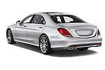 Car pictures of rear three quarter view of2014 Mercedes Benz S-Class S63 AMG 4 Door Sedan Angular Rear