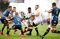 Sikhumbuzo Notshe of the Cell C Sharks during the Super Rugby match between the Pulse Energy Highlanders and the Cell C Sharks at the Forsyth Barr Stadium in Dunedin, New Zealand on Friday, 7 February 2020. Photo Steve Haag / stevehaagsports.com