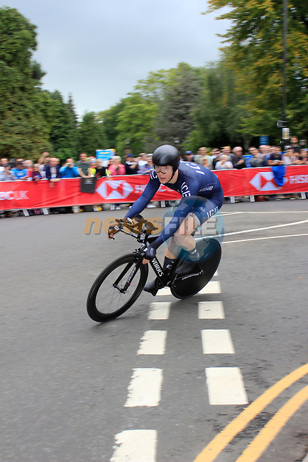 Runar Orn Agustsson (ICE) in action during the Men Elite Individual Time Trial of the UCI World Championships 2019 running 54km from Northallerton to Harrogate, England. 25th September 2019.<br /> Picture: Andy Brady | Cyclefile<br /> <br /> All photos usage must carry mandatory copyright credit (© Cyclefile | Andy Brady)