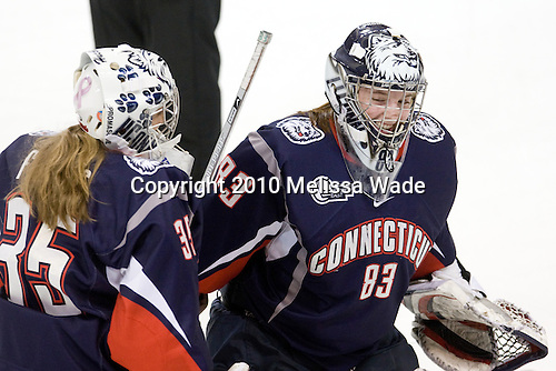 Claire Francis (UConn - 35), Alexandra Garcia (UConn - 83) - The Boston College Eagles defeated the visiting University of Connecticut Huskies 3-0 on Sunday, October 31, 2010, at Conte Forum in Chestnut Hill, Massachusetts.