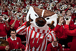 MADISON, WI - MARCH 1: Mascot Bucky Badger of the Wisconsin Badgers cheers during the game against the Michigan Wolverines at the Kohl Center on March 1, 2009 in Madison, Wisconsin. Wisconsin beat Michigan 60-55. (Photo by David Stluka)