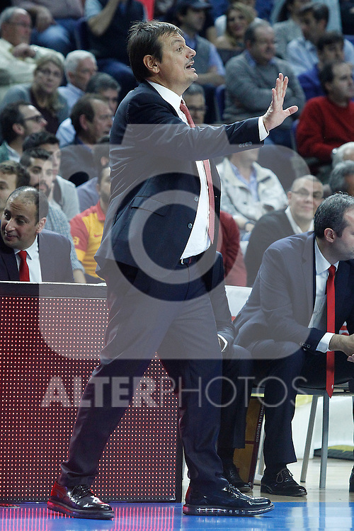 Galatasaray Odeabank Istambul's coach Ergin Ataman during Euroleague, Regular Season, Round 5 match. November 3, 2016. (ALTERPHOTOS/Acero)