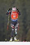 09/12/2016, Pokljuka - IBU Biathlon World Cup.<br /> Alexia Runggaldier competes at the sprint race in Pokljuka, Slovenia on 09/12/2016.