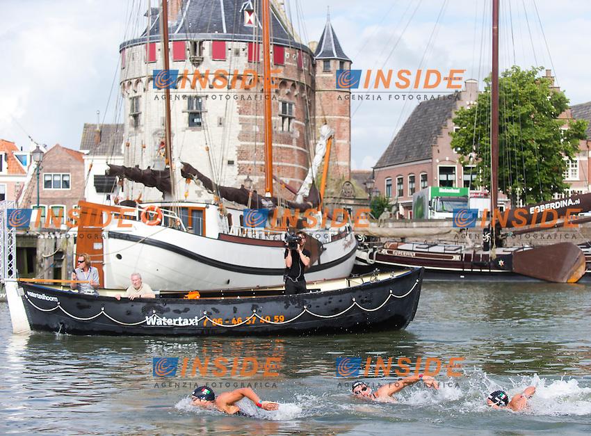 Team ITALY Gold medal - BRUNI Rachele, RUFFINI Simone, VANELLI Federico<br /> Hoorn, Netherlands <br /> LEN 2016 European Open Water Swimming Championships <br /> Open Water Swimming<br /> 5km Team Event Mixed<br /> Day 03 13-07-2016<br /> Photo Giorgio Perottino/Deepbluemedia/Insidefoto