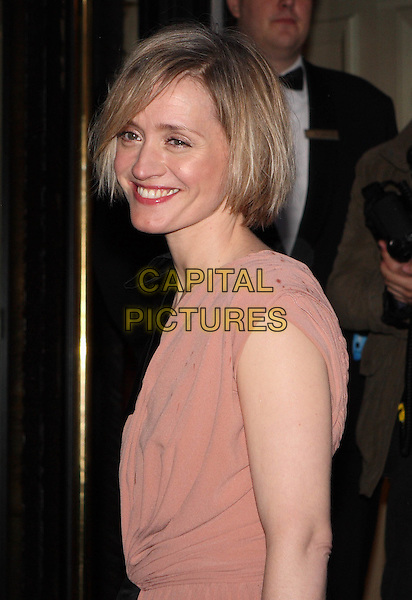 ANNE-MARIE DUFF. Arrives for the Laurence Olivier Awards 2008 at Grosvenor House, London, England, USA, March 9, 2008..half length portrait beige peach dress Anne Marie.CAP/JIL.?Jill Mayhew/Capital Pictures