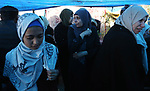 Relatives of the Palestinian Nidal Shatat, 29, who was shot dead by Israeli forces during clashes with Israeli troops in tents protest where Palestinians demand the right to return to their homeland at the Israel-Gaza border, mourn during his funeral in the center of Gaza strip, on March 23, 2019. Photo by Ashraf Amra