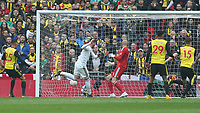 Wolverhampton Wanderers' Matt Doherty scores his side's first goal  <br /> <br /> Photographer Rob Newell/CameraSport<br /> <br /> Emirates FA Cup Semi-Final  - Watford v Wolverhampton Wanderers - Sunday 7th April 2019 - Wembley Stadium - London<br />  <br /> World Copyright © 2019 CameraSport. All rights reserved. 43 Linden Ave. Countesthorpe. Leicester. England. LE8 5PG - Tel: +44 (0) 116 277 4147 - admin@camerasport.com - www.camerasport.com