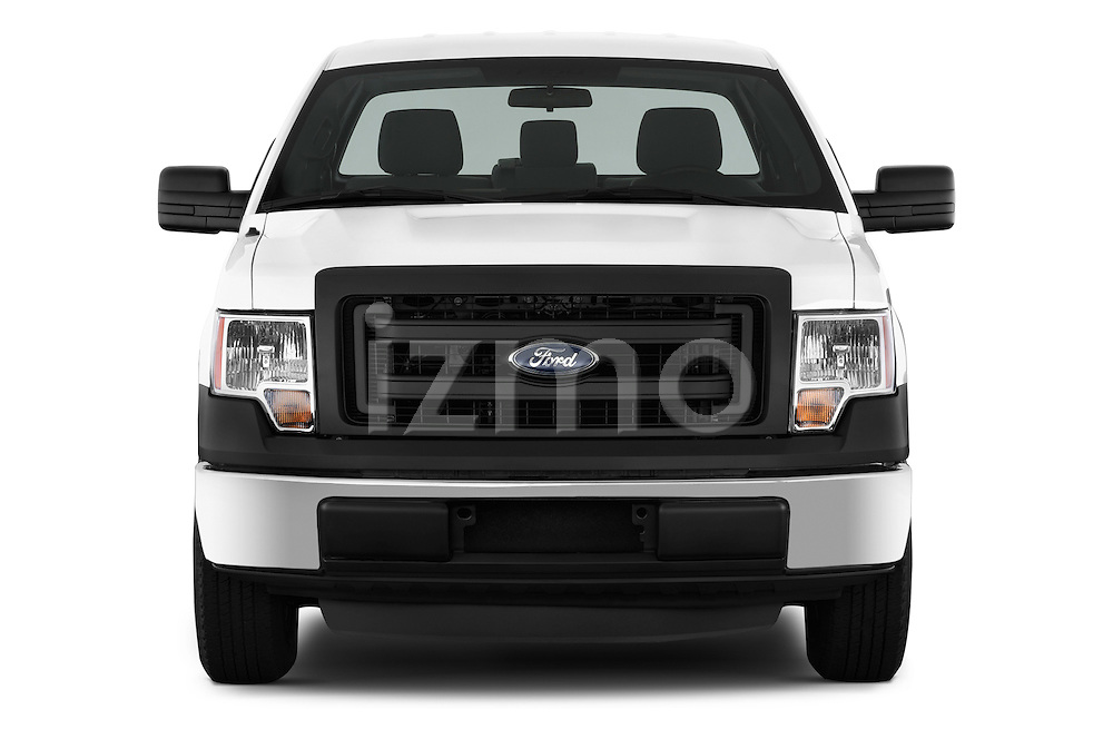 Straight front view of a 2013 Ford F150 XL Reg Cab