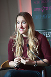 OIC - ENTSIMAGES.COM – Laura Bates, creator of the Everyday Sexism project, talks at the fifteenth Hay Festival Winter Weekend which takes place in venues around Hay-on-Wye  on the 28th 29th & 30th November. Also this year the Festival is honoured with the attendance of Booker Prize-winners Graham Swift and Eleanor Catton, language experts David and Ben Crystal, Danny Dorling on inequality & comedian Danny Ward. Hay-on-Wye, UK. 29th November, 2014. Photo: SnapDragon/Ents Images/OIC 0203 174 1069