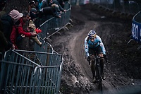 defending World Champion Wout Van Aert (BEL/Crelan-Charles) leading the race by a big margin (of over 2 minutes)<br /> <br /> Elite Men's Race<br /> 2018 CX World Championships<br /> Valkenburg - The Netherlands
