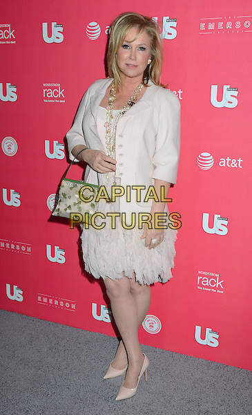 Kathy Hilton.Us Weekly hosts annual Hot Hollywood Style issue celebrating 2013 fashionable style celebrities, Hollywood, California, USA, .18th April 2013..full length pink peach nude dress chanel pearl beads necklace cream shoes jacket bag  .CAP/ADM/BT.©Birdie Thompson/AdMedia/Capital Pictures
