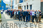 Shareholders queing at the Kerry Co-op AGM starts at the Brandon hotel in Tralee on Wednesday.