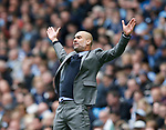 Josep Guardiola manager of Manchester City during the English Premier League match at the Etihad Stadium, Manchester. Picture date: May 13th 2017. Pic credit should read: Simon Bellis/Sportimage