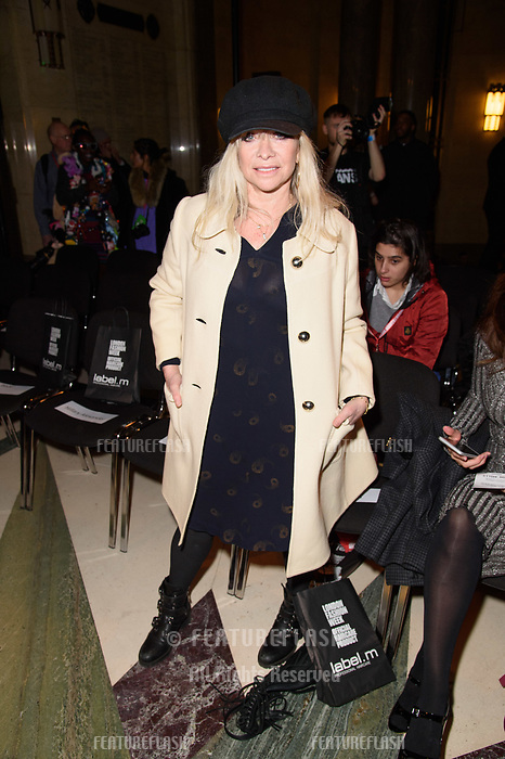 Jo Wood at the Pam Hogg show during London Fashion Week AW18, at the Freemasons' Hall in London, UK. <br /> 16 February  2018<br /> Picture: Steve Vas/Featureflash/SilverHub 0208 004 5359 sales@silverhubmedia.com