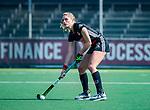 AMSTELVEEN -  Kimberly Thompson (A'dam)  tijdens de hoofdklasse competitiewedstrijd hockey dames,  Amsterdam-Oranje Rood (5-2). COPYRIGHT KOEN SUYK
