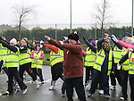 Mayor of Drogheda Paul Bell warms up for the Operation Transformation national Walk. Photo: Colin Bell/Perssphotos.ie