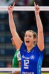 02.12.2018, Halle Berg Fidel, Muenster<br />Volleyball, Bundesliga Frauen, Normalrunde, USC MŸnster / Muenster vs. Allianz MTV Stuttgart<br /><br />Jubel Deborah van Daelen (#12 Stuttgart)<br /><br />  Foto &copy; nordphoto / Kurth