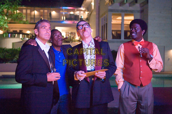 GEORGE CLOONEY, DON CHEADLE, ELLIOTT GOULD & BERNIE MAC .in Ocean's Thirteen (13) .**Editorial Use Only**.CAP/PLF.Supplied by Capital Pictures