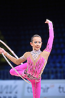 "DARIA LAZARCHUK of Russia (junior) performs at 2011 World Cup Kiev, ""Deriugina Cup"" in Kiev, Ukraine on May 06, 2011."