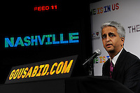 U.S. Soccer President and USA Bid Committee Chairman Sunil Gulati announces Nashville as one of the 18 cities to be submitted to FIFA as part of the bid to host the 2018 or 2022 FIFA World Cup at the ESPN Zone in Times Square, NYC, NY, on January 12, 2010.