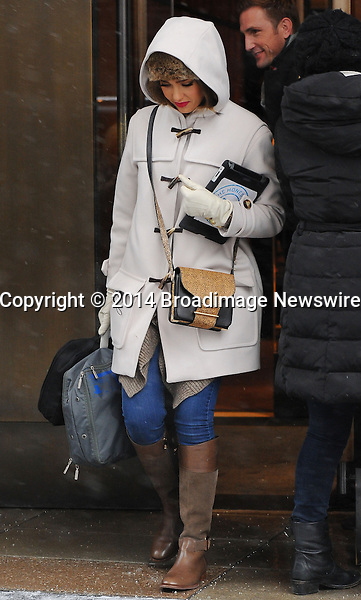 Pictured: Jessica Alba<br /> Mandatory Credit &copy; Jayme Oak/Broadimage<br /> Jessica Alba leaving her hotel in Manhattan<br /> <br /> 1/22/14, New York, New York, United States of America<br /> <br /> Broadimage Newswire<br /> Los Angeles 1+  (310) 301-1027<br /> New York      1+  (646) 827-9134<br /> sales@broadimage.com<br /> http://www.broadimage.com