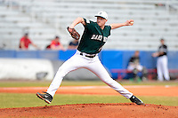 Dartmouth Big Green pitcher Mitch Horacek (27) during a game against the Long Island Blackbirds at Chain of Lakes Stadium on March 17, 2013 in Winter Haven, Florida.  Dartmouth defeated UAB 11-4.  (Mike Janes/Four Seam Images)