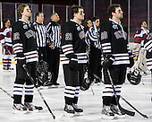 Mat Bodie (Union - 22), Wayne Simpson (Union - 21), Greg Coburn (Union - 20) - The Union College Dutchmen defeated the Harvard University Crimson 2-0 on Friday, January 13, 2012, at Fenway Park in Boston, Massachusetts.
