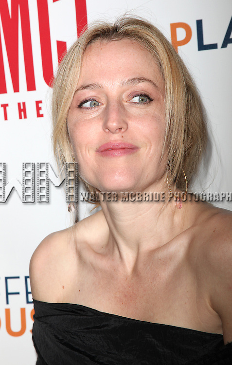 "Gillian Anderson.arrives at the Opening Night Performance After Party for MCC Theater World Premiere Off-Broadway Production of  ""The Break Of Noon""  in New York City."