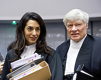 Amal Clooney at the European Court of Human rights in Strasbourg - France
