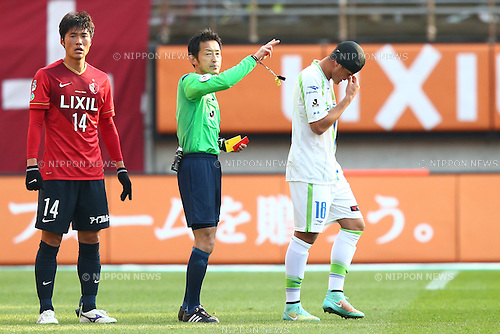 Alison (Bellmare),<br /> MARCH 14, 2015 - Football / Soccer : <br /> 2015 J1 League 1st stage match between<br /> Kashima Antlers 1-2 Shonan Bellmare<br /> at Kashima Soccer Stadium in Ibaraki, Japan.<br /> (Photo by Shingo Ito/AFLO SPORT)