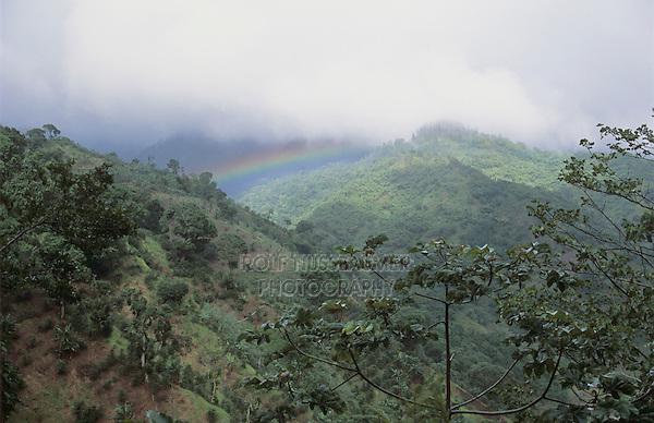 Rainbow, Coffee Plantation, Blue Mountains, Jamaica, January 2005