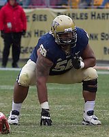 Pitt offensive lineman Arthur Doakes. The Pitt Panthers defeat the Rutgers Scarlet Knights 27-6 on Saturday, November 24, 2012 at Heinz Field , Pittsburgh, PA.