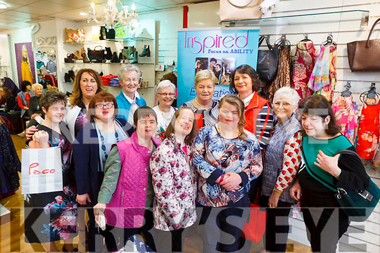 Models taking part in a fashion show for Inspired at Paco on Friday afternoon. Pictured front l-r were: Carmel Roche, Sinead Joy, Breda O'Sullivan, Denise O'Mahony, Labhaoise O'Connor and Niamh O'Connor. Back l-r were: Eileen Whelan (Manager Paco), Breda Browne, Sheila Sayers, Sheila Kennedy, Carol, Dooley and Dolores O'Connor.